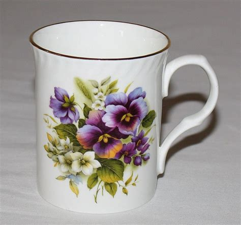 Flowers Mug royal castle floral mug purple flowers staffordshire
