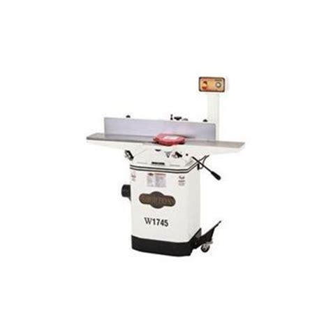 shop fox woodworking machinery shop fox w1745 1 hp 6 jointer w mobile base elite tools