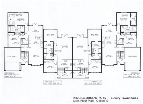 townhouse floor plan luxury 26 decorative luxury townhouse plans building plans 84583