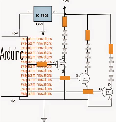 arduino resistor heater using high watt leds with arduino electronic circuit projects