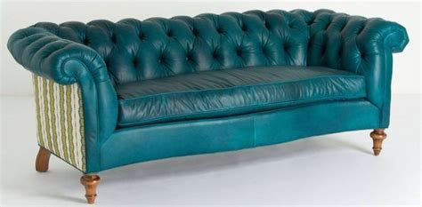 Turquoise Leather Chesterfield Sofa Teal Blue Tufted Turquoise Chesterfield Sofa