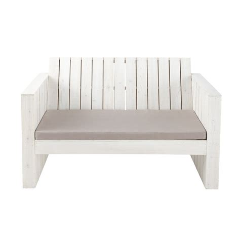white bench seat 2 seater wooden garden bench seat in white faro maisons