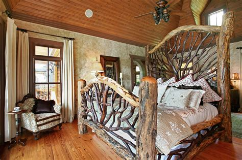amazing rustic bedroom interior design ideas with log wood