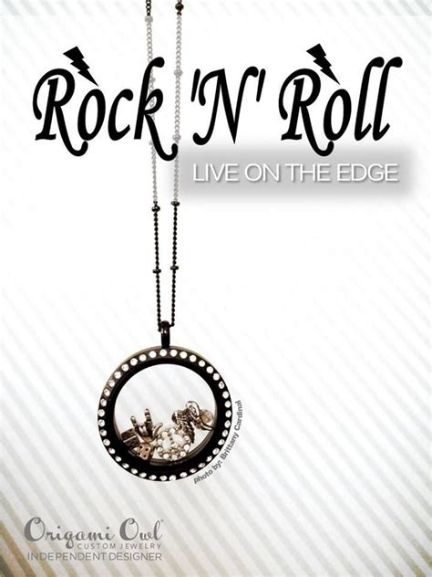 Like Origami Owl - rock rocker origami owl living locket personalized jewelry