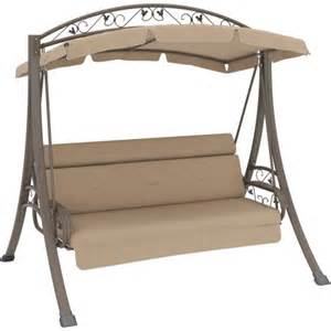 walmart patio canopy corliving nantucket patio swing with arched canopy beige