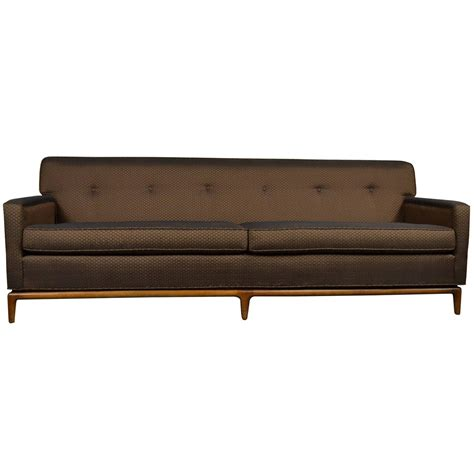 Modern Tufted Sofa Mid Century Modern Tufted Tight Back Tuxedo Sofa On Walnut Base For Sale At 1stdibs