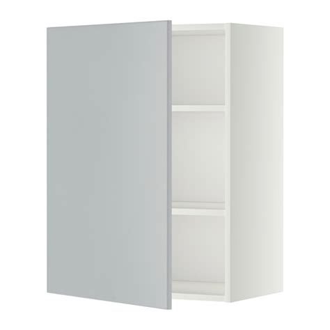 ikea wall cabinets metod wall cabinet with shelves white veddinge grey 60x80