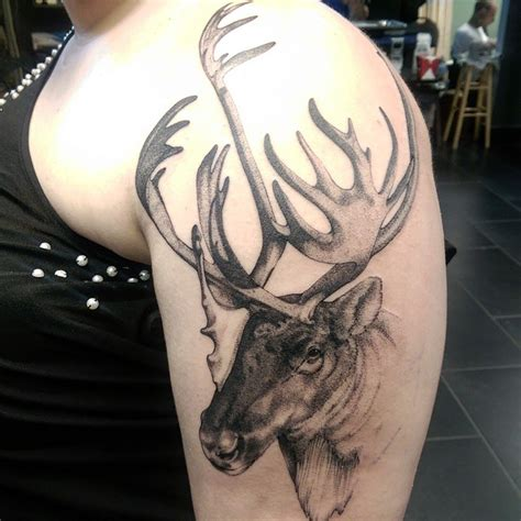 small moose tattoo shoulder graphic moose best ideas gallery