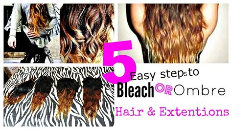 tutorial ombre rambut tanpa bleaching easy diy how to bleach ombre extensions weave hair