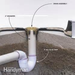 Install Plumbing How To Install A Fiberglass Base Over Concrete The