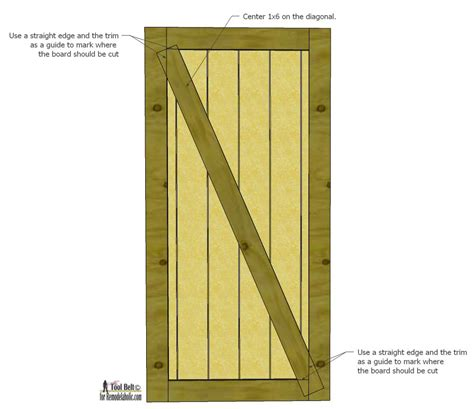 Door Plans Build A Beautiful Sliding Barn Door With Build A Barn Door Plans