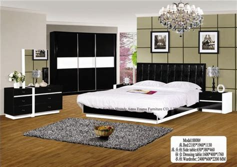 bedroom products bedroom sets white and black color included bed wardrobe