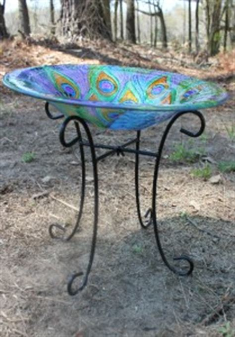 new painted glass blue purple peacock decorative bowl