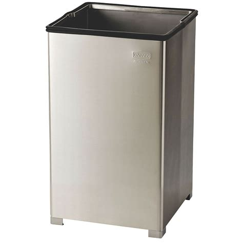commercial trash cans rubbermaid fgb1940sspl 29 gallon commercial trash can metal square