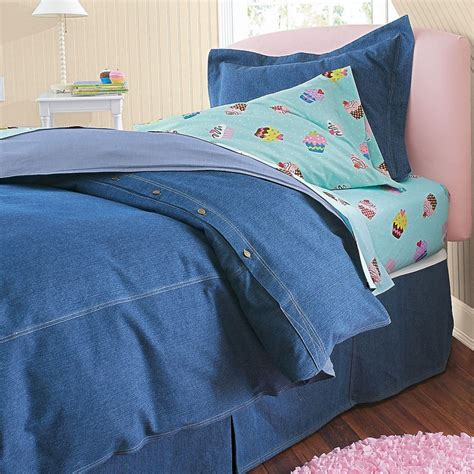 Denim Comforters by Washed Denim Comforter Cover Denim