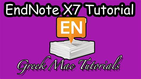 youtube tutorial endnote endnote x7 for mac tutorial youtube