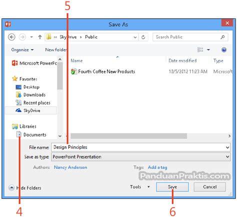 format file video untuk powerpoint cara menyimpan dokumen presentasi powerpoint 2013