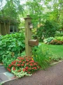 Mailbox Garden Ideas Ideas For Landscaping Around Mailbox Gardens Craftsman Mailbox Flowers And