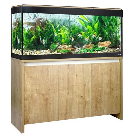 Lu Aquarium 50 Cm fluval roma 240 led aquarium cabinet set oak