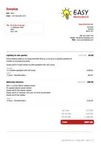 electrician invoice template yourtradebase