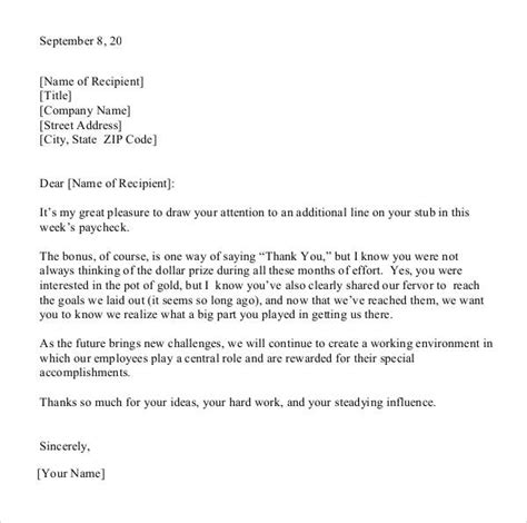 thank you letter to for bonus 21 sle thank you letter templates to pdf doc