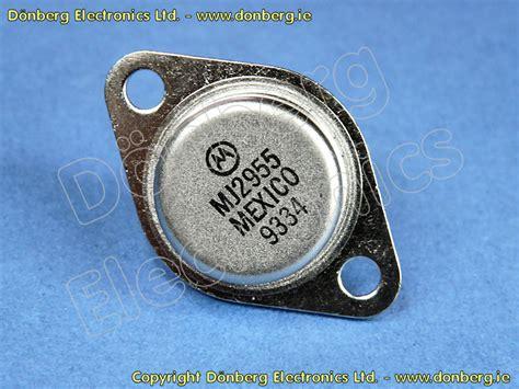 transistor mj2955 semiconductor mj2955 mj 2955 transistor silicon pnp 100v 150w 4mhz