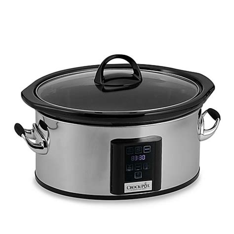 bed bath and beyond crock pot crock pot 174 6 5 quart slow cooker with elume touchscreen