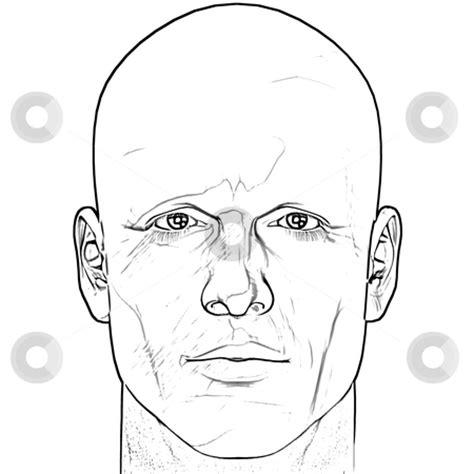 male figure portrait stock photo black and white male