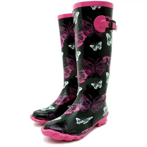 pink patterned wellies buy funky patterned festival wellies wellington rain boots