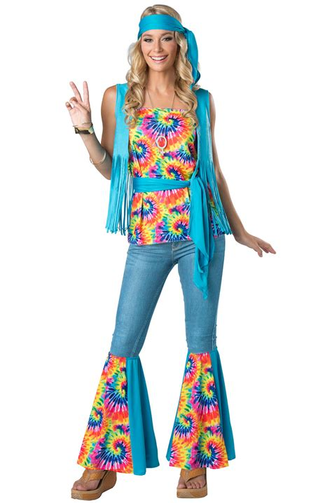 tie dye hippie adult costume purecostumescom