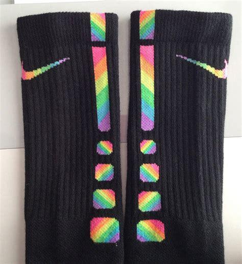 Gamis Rainbow Sz 3 custom zig zag rainbow nike elite socks from parsonsplace4 on