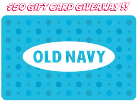 Old Navy Gift Card Paypal - giveaway 50 old navy gift card stylish life for moms