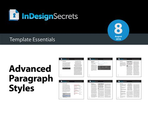 indesign tutorial advanced indesign template essentials advanced paragraph styles