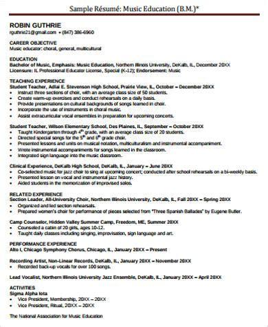 music teacher resume best of musical resume template music teacher