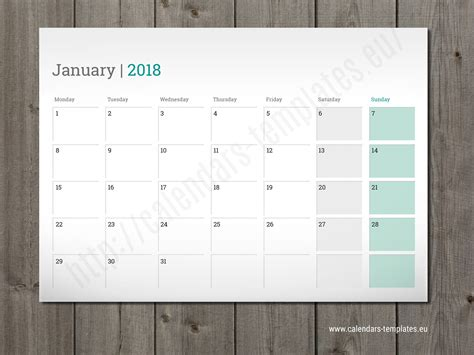 Printable Planner For 2018 | printable monthly planner 2018 pdf listmachinepro com