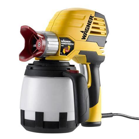 home depot paint sprayer wagner wagner power painter max 7 2 gph paint sprayer 0525032