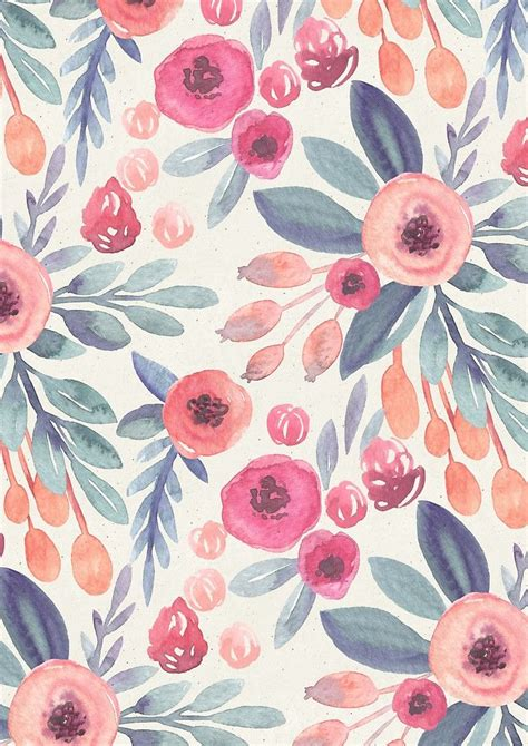 pink watercolor pattern love in pink by irtsya pattern pinterest wallpaper