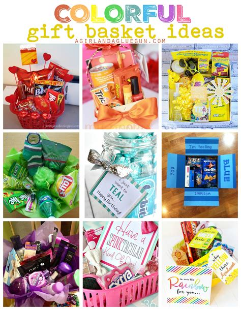 colorful gift basket ideas themed gift baskets sunshine