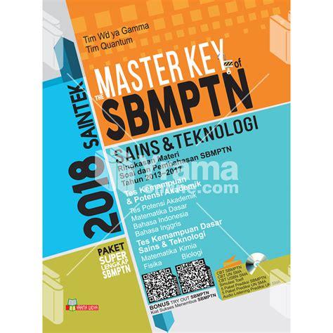 Buku Mantap Lolos Sbmptn Ipa Saintek buku master key of sbmptn saintek ipa 2018 paket lengkap