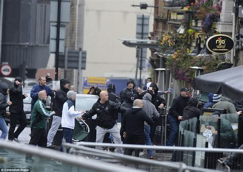 trav pavia violence breaks out in manchester before manchester city
