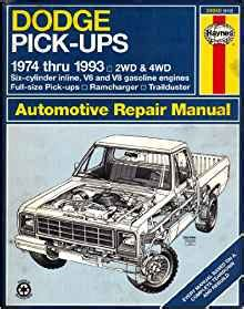 small engine maintenance and repair 1993 dodge ramcharger lane departure warning stock photo dodge fullsize pick ups 1974 thru 1993 2wd 4wd six cylinder inline v6 and v8