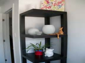colourful room ideas black corner wall shelf corner
