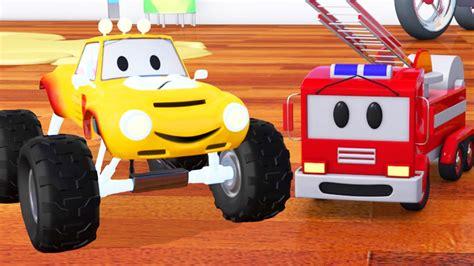 fire trucks monster truck fire truck bulldozer racing car and lucas the monster
