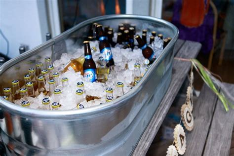 beer bathtub beer and wine on ice in a large galvanized tub from