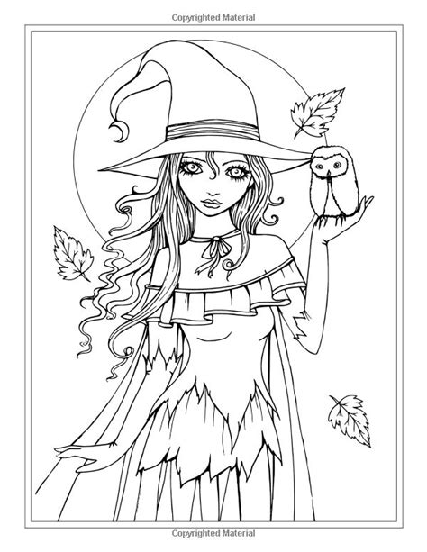 autumn fantasy coloring book halloween witches vampires