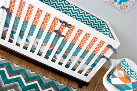 Turquoise And Orange Crib Bedding Crib Bedding Boy Turquoise Orange Nursery Bedding Baby Crib