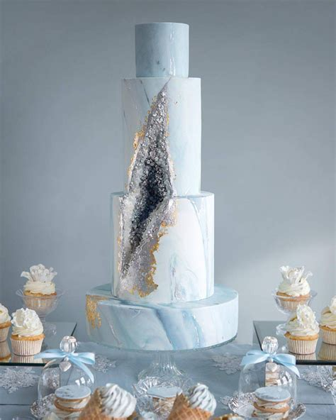 geode crystal wedding cakes southbound bride