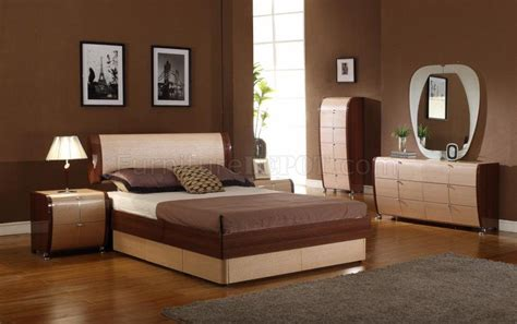 Two Tone Bedroom Set Maya Maple Cherry Two Tone Bedroom Furniture