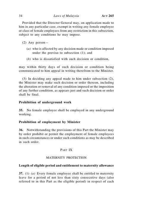 Contract Employment Letter Malaysia Employment Act 1955 Malaysia