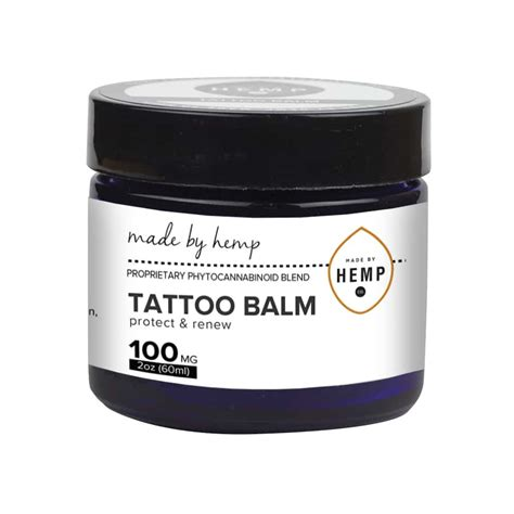 hemp tattoo hemp balm 100mg cbd ship to all states made